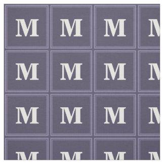 Monogram heather purple stripes fabric