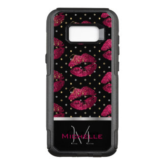 Monogram Hot Pink Lips OtterBox Commuter Samsung Galaxy S8+ Case