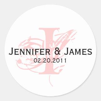 Monogram I Save the Date Wedding Sticker