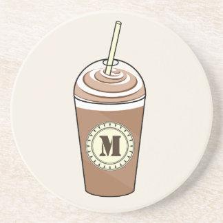 Monogram Iced Coffee To Go w Whipped Cream Coaster