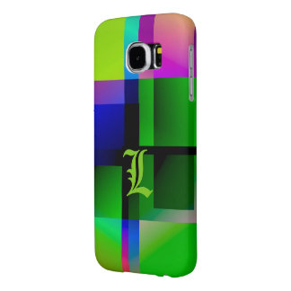 Monogram in greenish tone Galaxy case