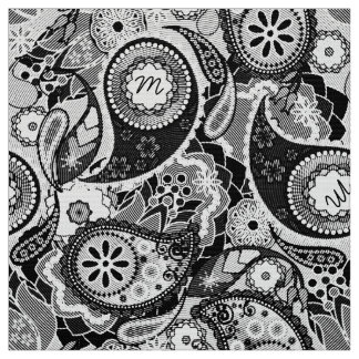 Monogram in Paisley Halftone Black/White MIPH Fabric