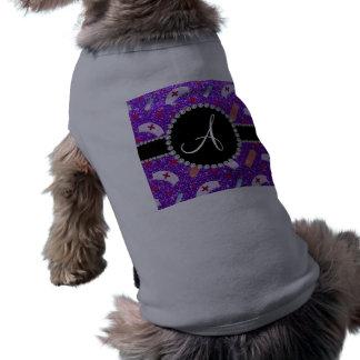 Monogram indigo purple glitter nurse hats heart dog shirt