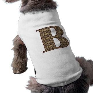 Monogram Initial B Elegant Floral Dog Shirt