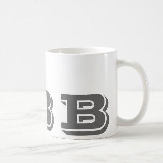 Monogram Initial B Grey Modern Coffee Mug