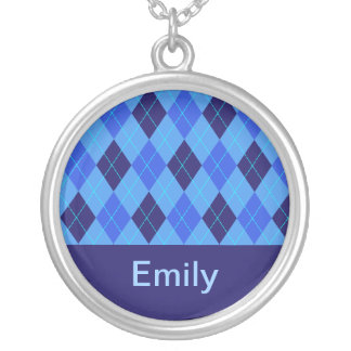 Monogram initial E personalised name necklace