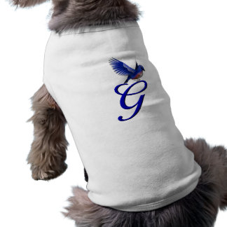 Monogram Initial G Elegant Bluebird Dog Shirt