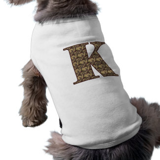 Monogram Initial K Elegant Floral Dog Shirt