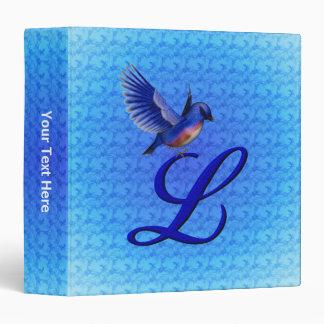 Monogram Initial L Bluebird Binder