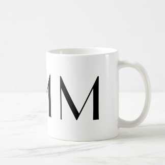 Monogram Initial M Black & White Modern Coffee Mug