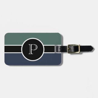 Monogram Initial Modern Chic Travel Professional Luggage Tag