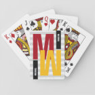 monogram ( initial & name) colour playing cards