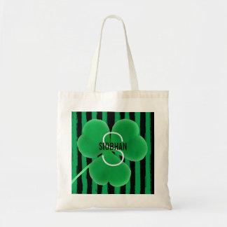 Monogram Initial Name | St. Patrick's Day Shamrock