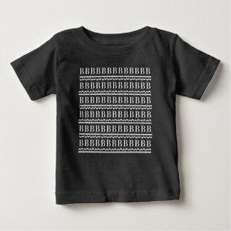 Monogram Initial Pattern, Letter B in White Baby T-Shirt