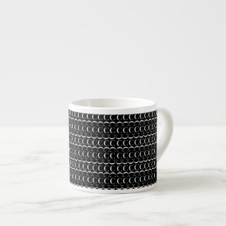 Monogram Initial Pattern, Letter C in White Espresso Cup