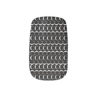 Monogram Initial Pattern, Letter C in White Minx Nail Art