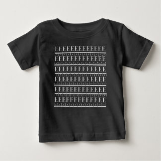 Monogram Initial Pattern, Letter E in White Baby T-Shirt
