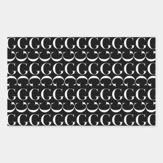 Monogram Initial Pattern, Letter G in White Sticker