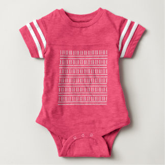 Monogram Initial Pattern, Letter H in White Baby Bodysuit