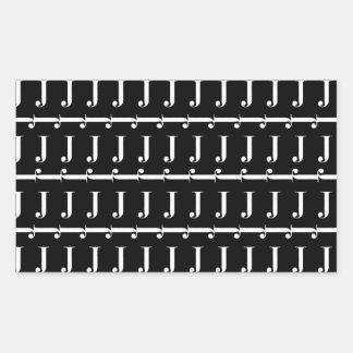 Monogram Initial Pattern, Letter J in White Sticker