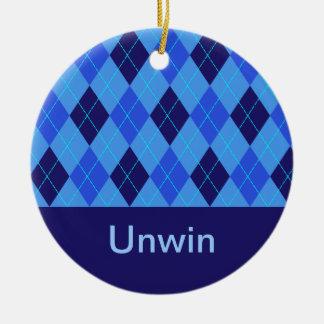 Monogram initial U personalised name ornament