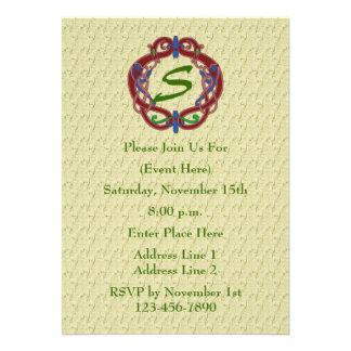 Monogram Initials Celtic Design Invite