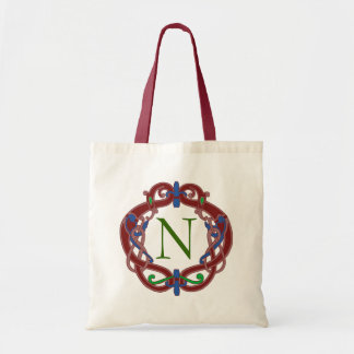 Monogram Initials Celtic Design Personalized Tote