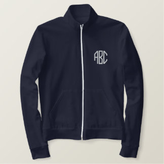 monogram initials embroidered jacket