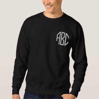 monogram initials embroidered sweatshirt