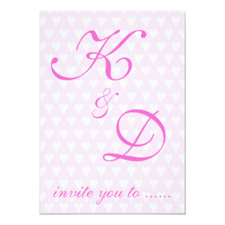 Monogram initials invitation wedding / engagement