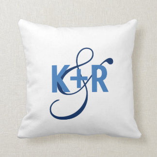 Monogram Initials Personalized Wedding Pillow2 Throw Pillow