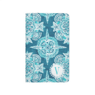 Monogram INNER MERMAID COMPASS Aqua Shell Moroccan Journals