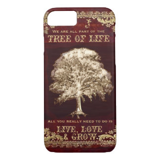 Monogram Inspirational Message Tree of Life Case-Mate iPhone Case