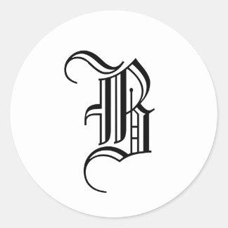 "Monogram Invitation Seal ""B""  Old English Black"