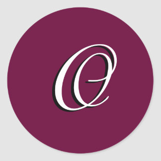"Monogram Invitation Seal ""O""  Customizable Wine"