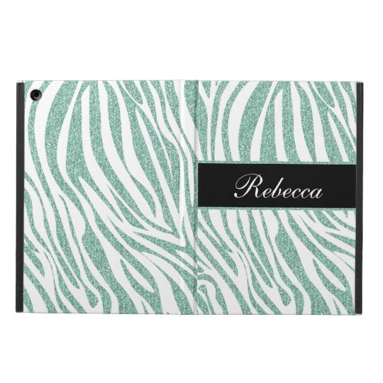Monogram iPad Air Case Zebra Glitter