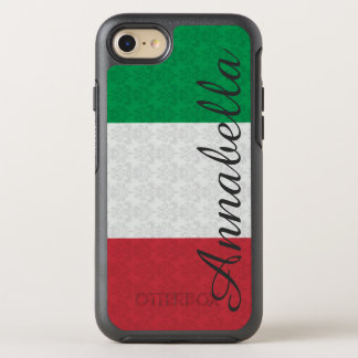 Monogram Italian Flag Damask Pattern OtterBox Symmetry iPhone 8/7 Case