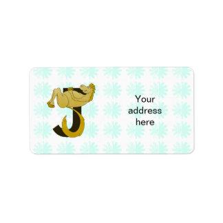 Monogram J Flexible Pony Personalized