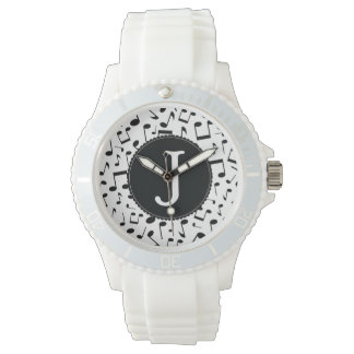 Monogram J Music Notes Wrist Watch