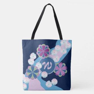 Monogram Japanese Chrysanthemum River Kimono Flora Tote Bag