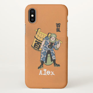 Monogram. Japanese Edo Firefighter iPhone X Case