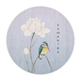 Monogram Japanese Vintage Kingfisher Cutting Board