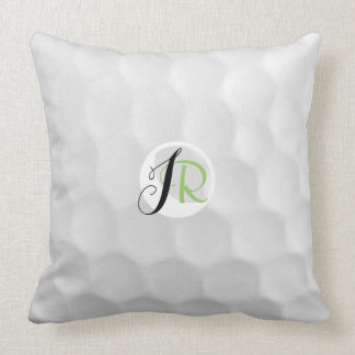 Monogram JR Golf Ball Throw Pillow