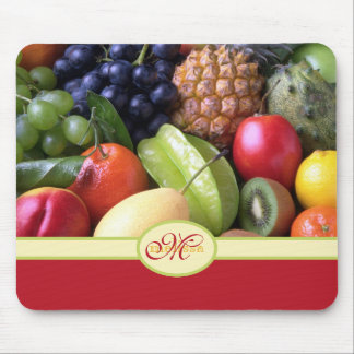 Monogram Juicy Natural Delicious Ripe Fresh Fruits Mouse Pad