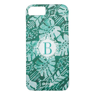 Monogram JUNGLE IKAT Hawaiian Green Tropical iPhone 8/7 Case
