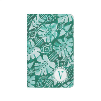 Monogram JUNGLE IKAT Hawaiian Green Tropical Journal