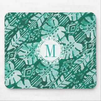 Monogram JUNGLE IKAT Hawaiian Green Tropical Mouse Pad