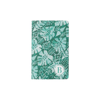 Monogram JUNGLE IKAT Hawaiian Green Tropical Pocket Moleskine Notebook
