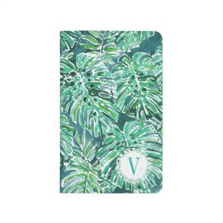 Monogram JUNGLE VIBES Green Tropical Monstera Journal
