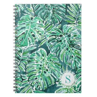 Monogram JUNGLE VIBES Green Tropical Monstera Notebook